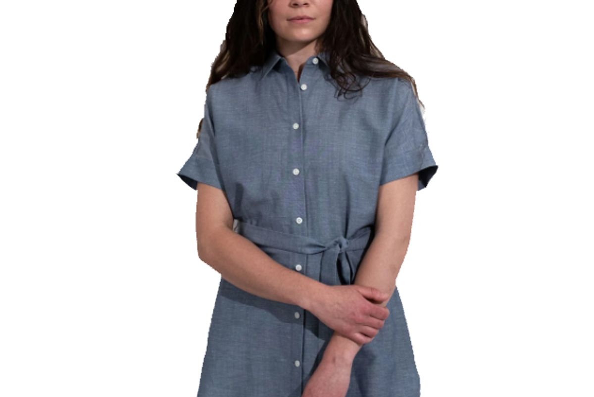 wool and laurel belted tunic