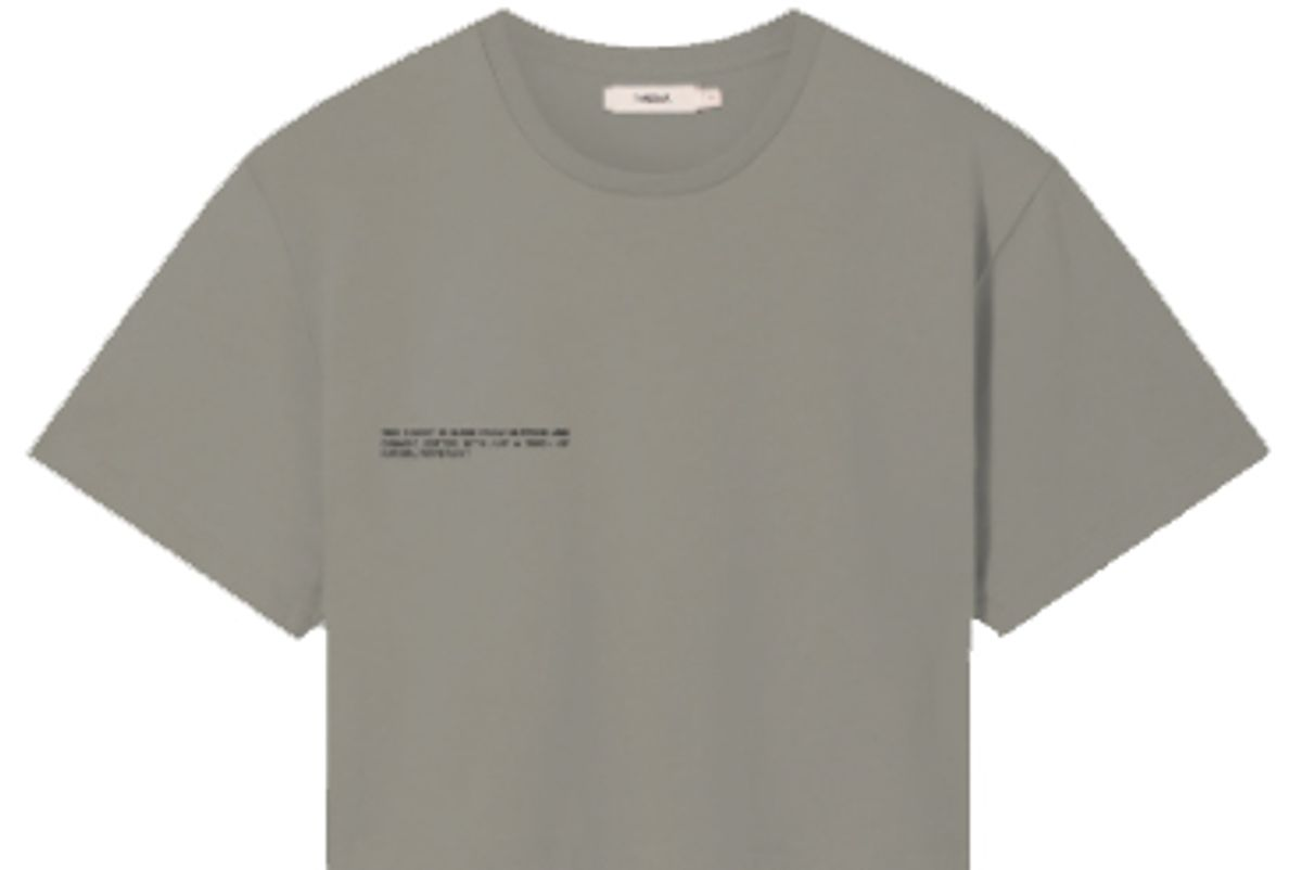 pangaia seaweed fiber cropped t-shirt