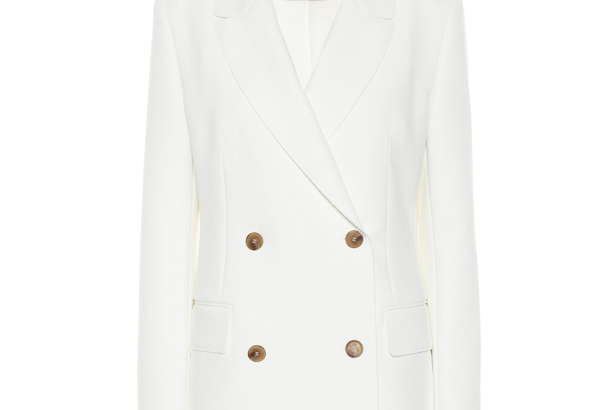msgm double breasted crepe blazer