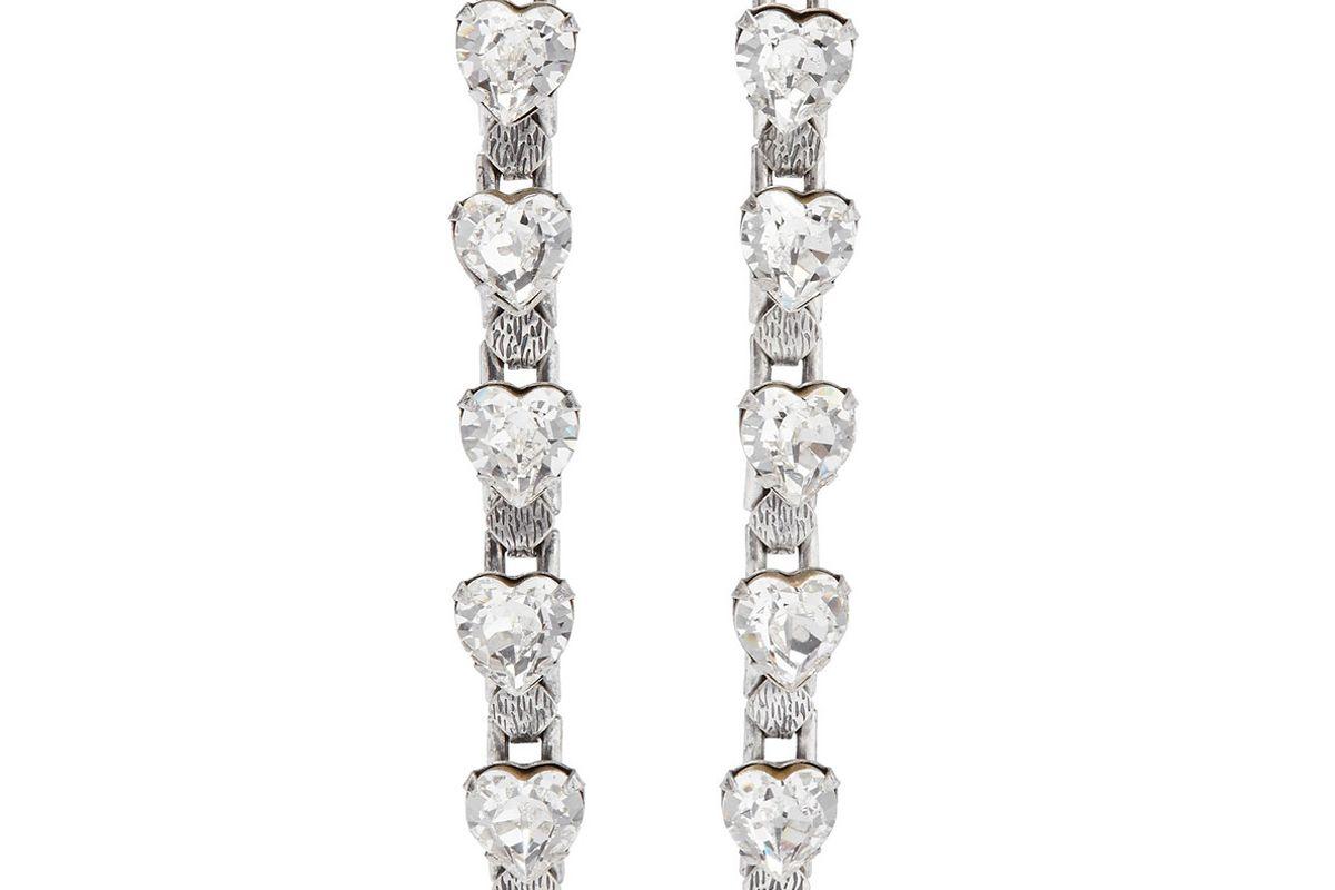 danijo odette oxidized silver plated crystal earrings