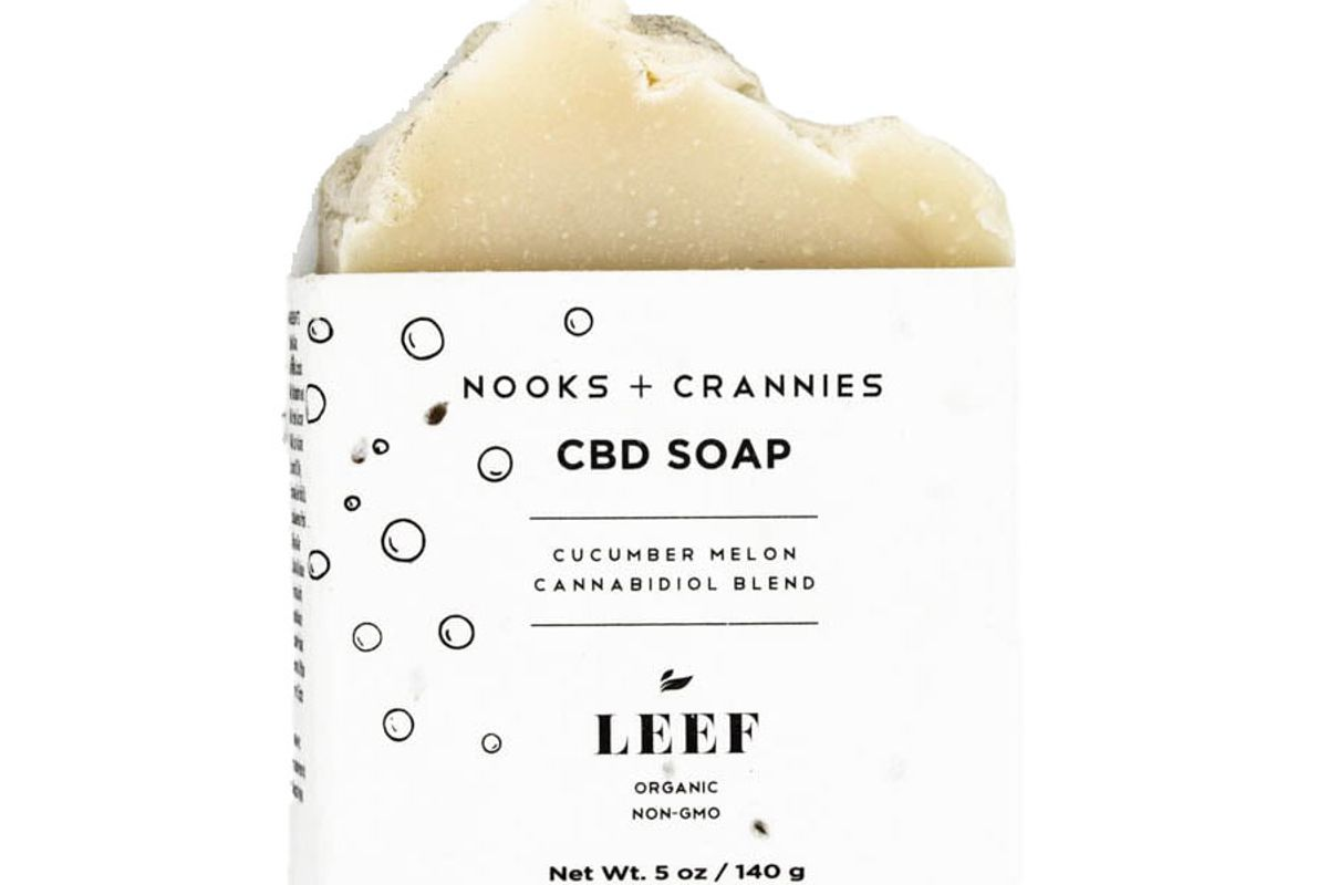 leef organics nooks and crannies cbd soap
