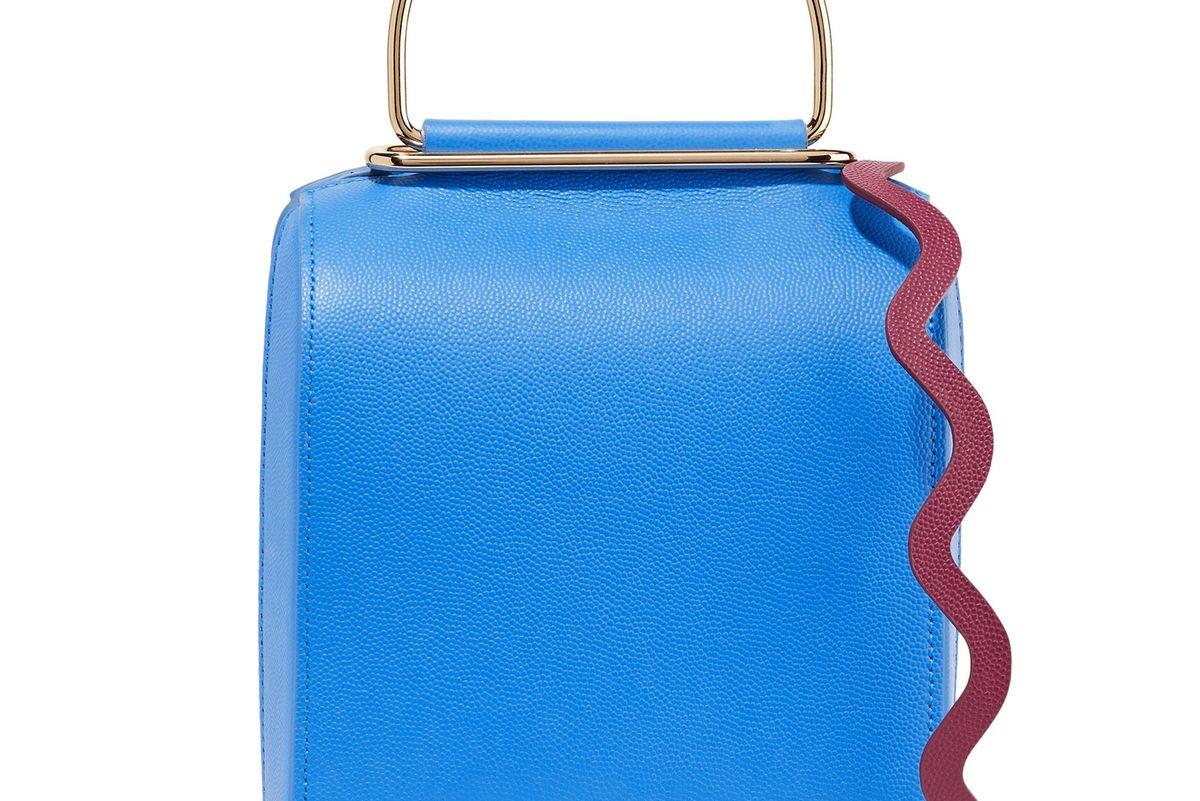 Besa Textured Leather Shoulder Bag