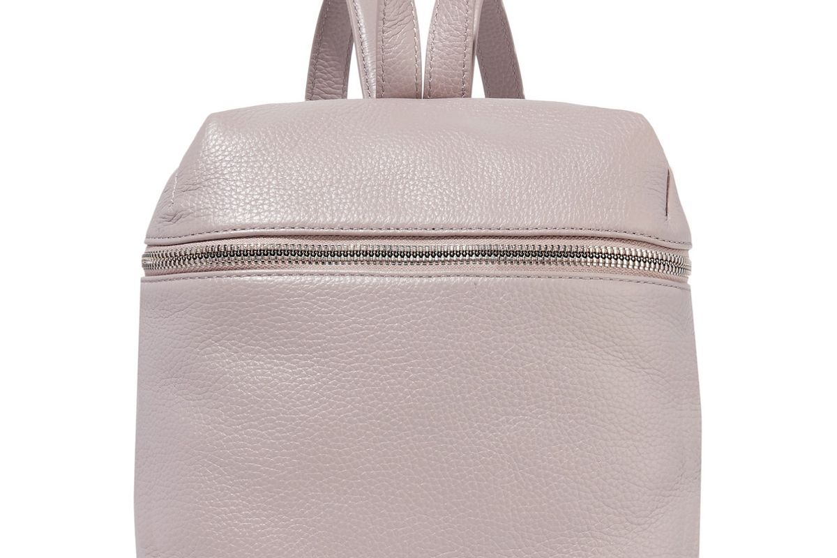 Small Textured-Leather Backpack
