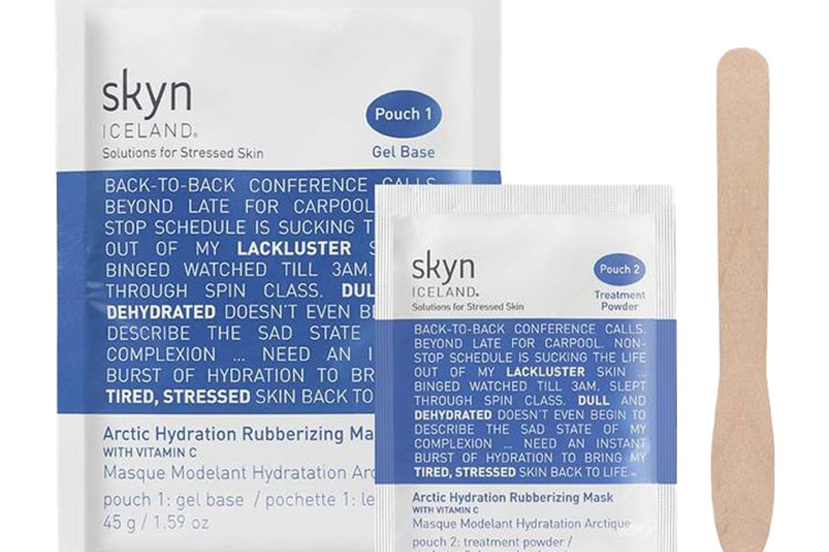 skyn iceland online only arctic hydration rubberizing mask with vitamin c