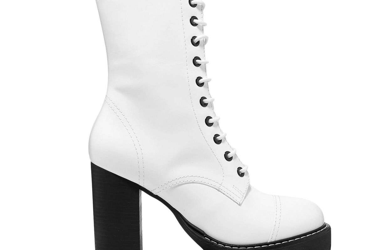 alexachung lace up leather platform ankle boots