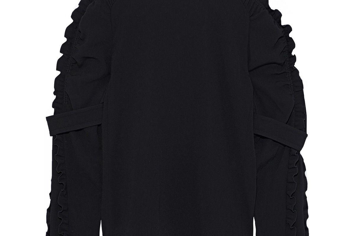 chole ruffle trimmed crepe blouse