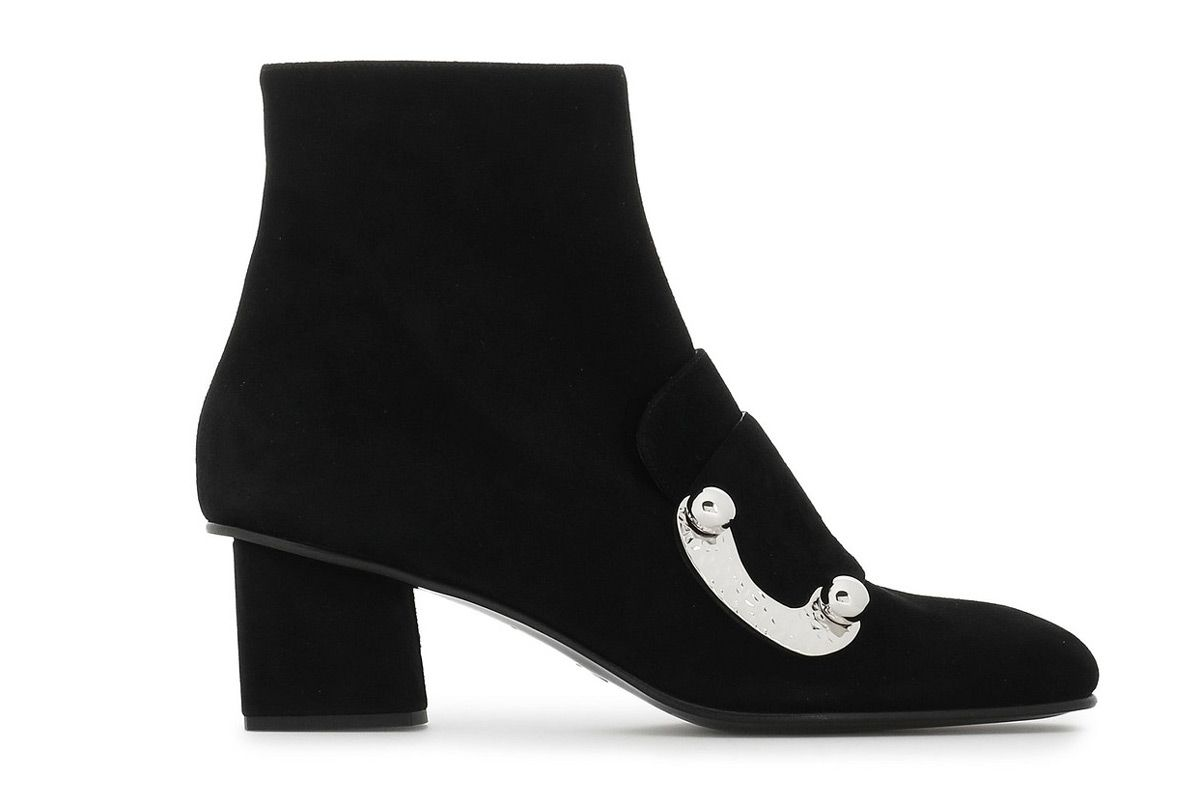 proenza schouler embellished suede ankle boots