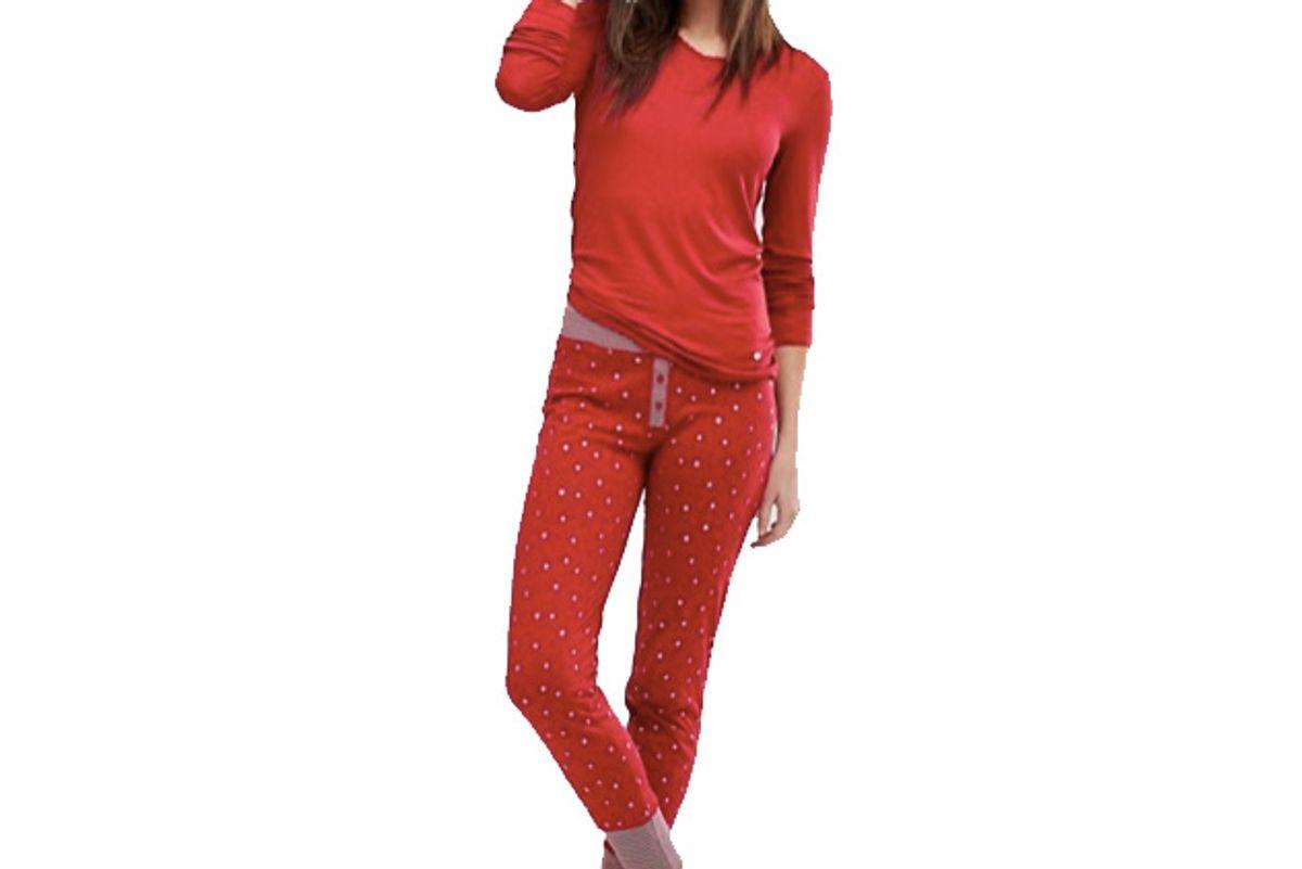 Star Print Pajama Bottoms