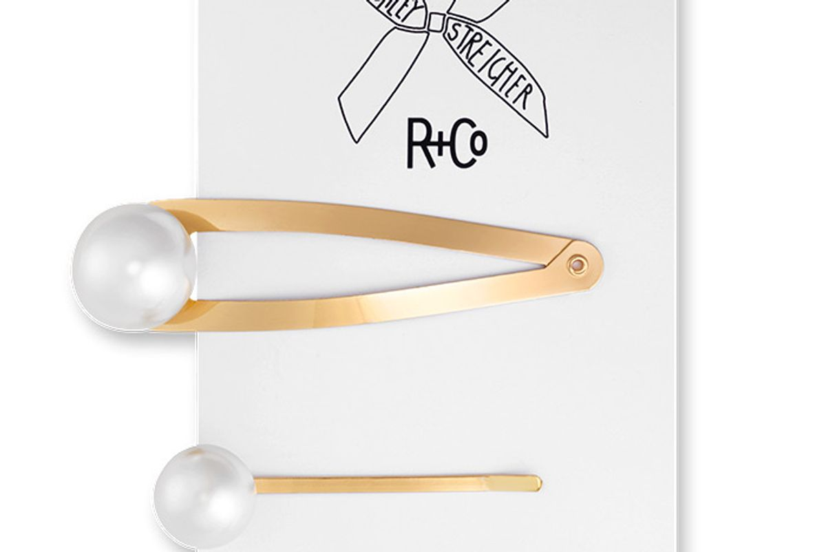r and co r and co pearl hair pins