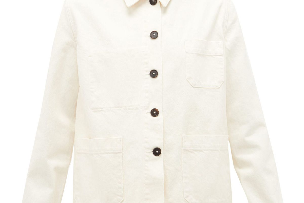 the row kurt patch pocket denim jacket