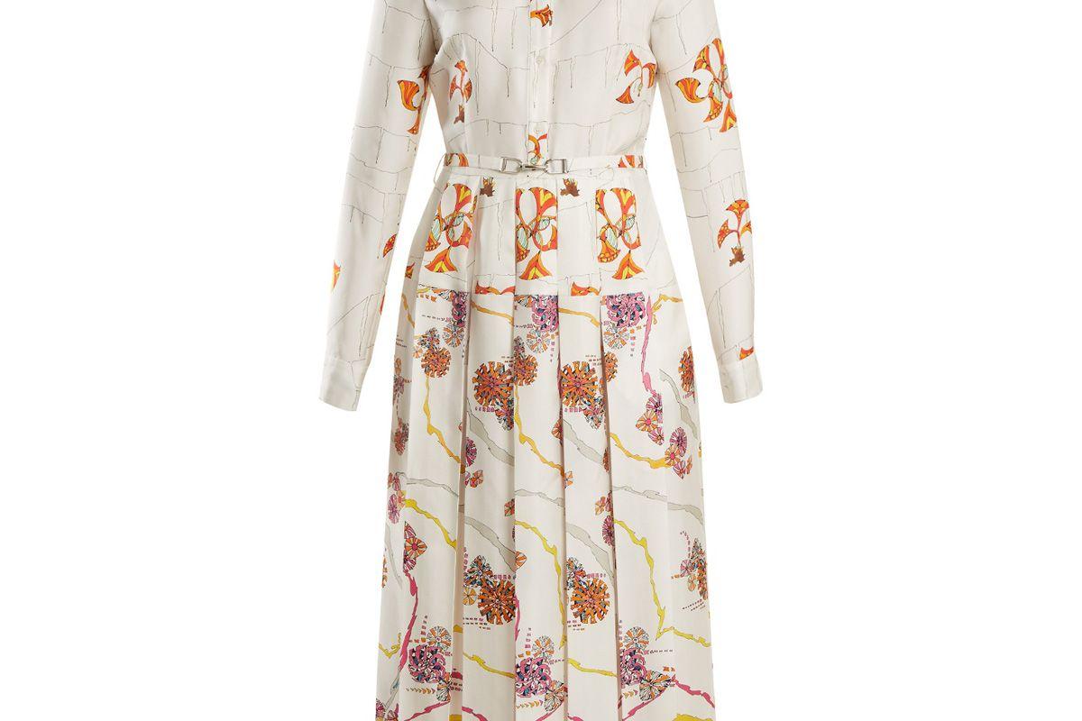 gabriela hearst rosa spread collar psychedelic print silk dress