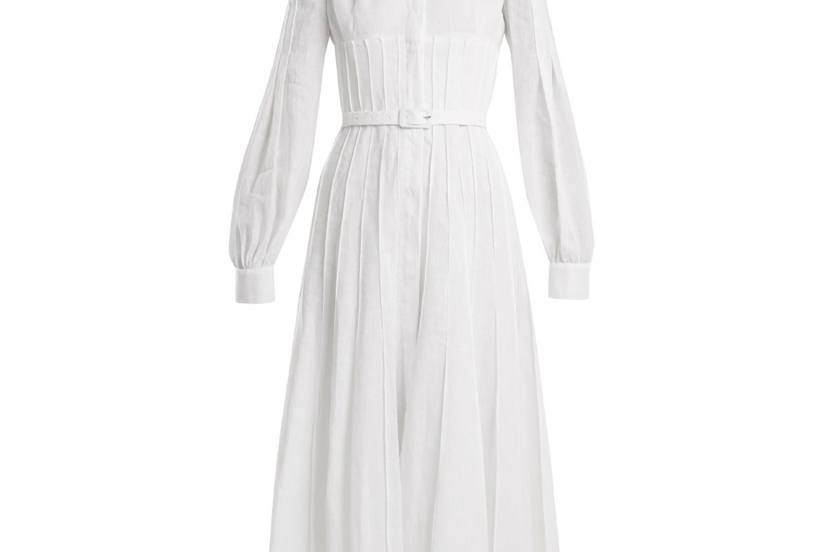 gabriela hearst gertrude aloe vera infused linen dress