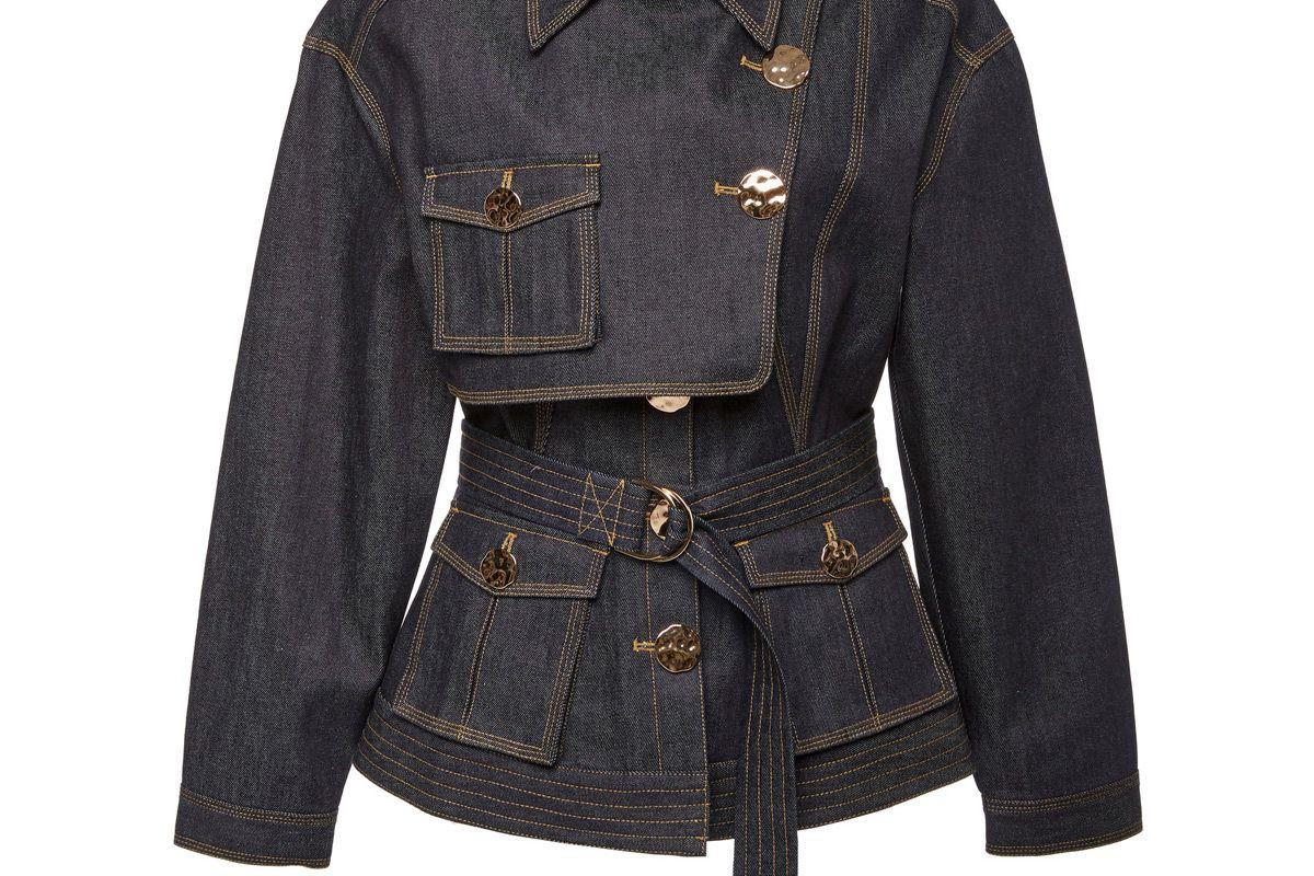 acler lewis belted denim jacket