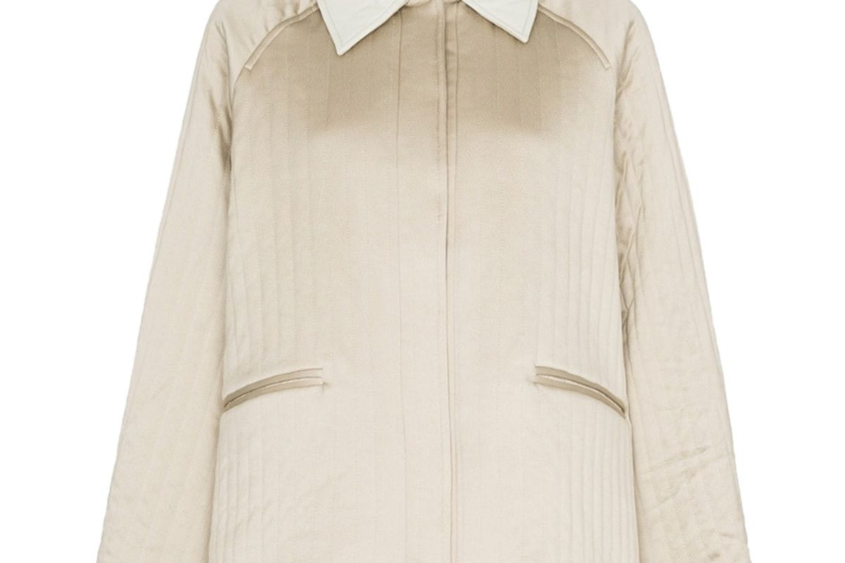 remain quilted shirt style jacket