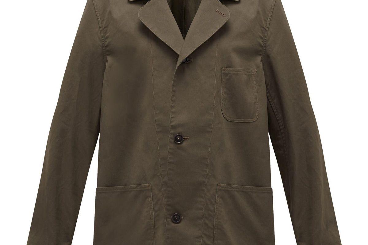 chimala patch pocket cotton canvas shirt jacket