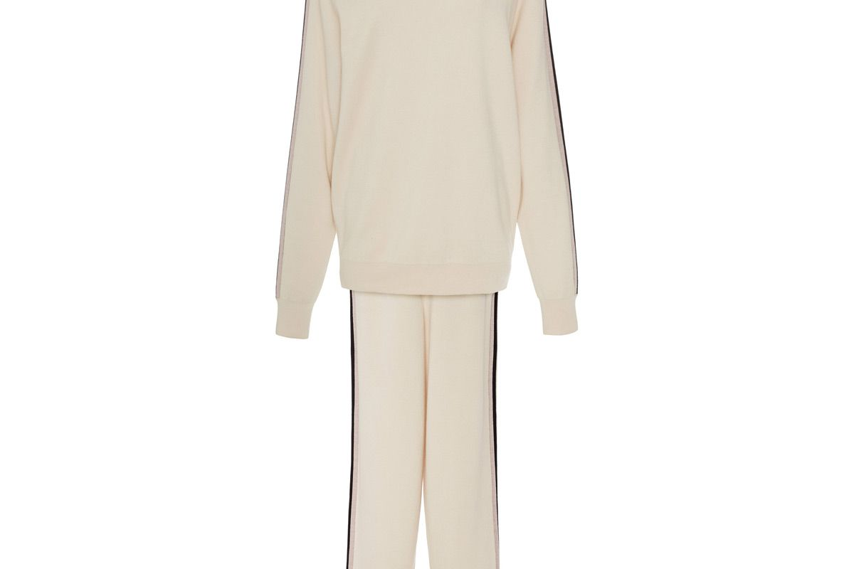 olivia von halle silk and cashmere jogging suit