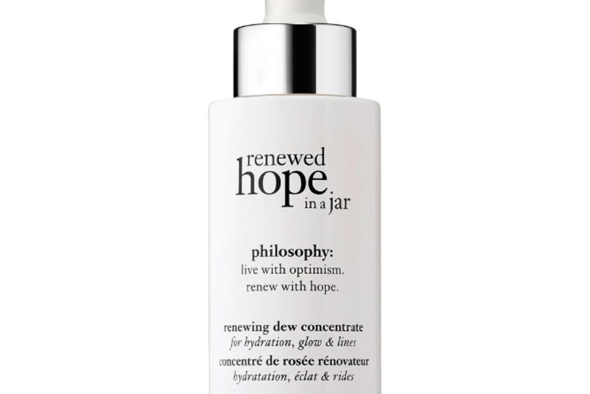 philosophy renewed hope in a jar dew facial serum