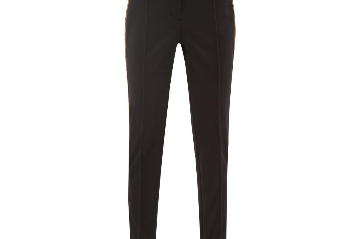 fendi logo stripe stirrup ski trousers