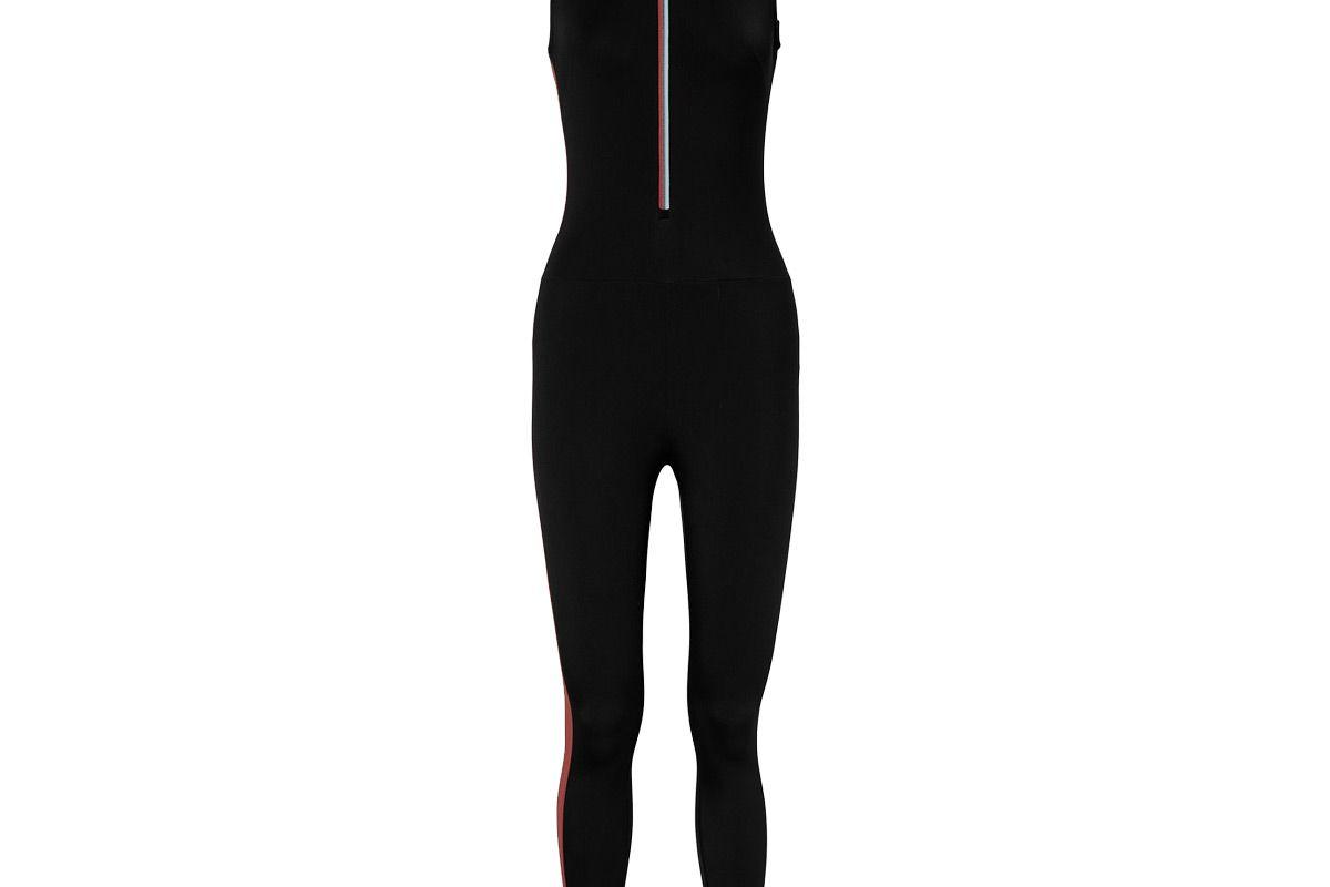 vaara dean thermal striped stretch bodysuit