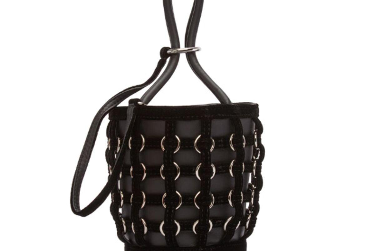 Black Caged Mini Roxy Bucket Bag