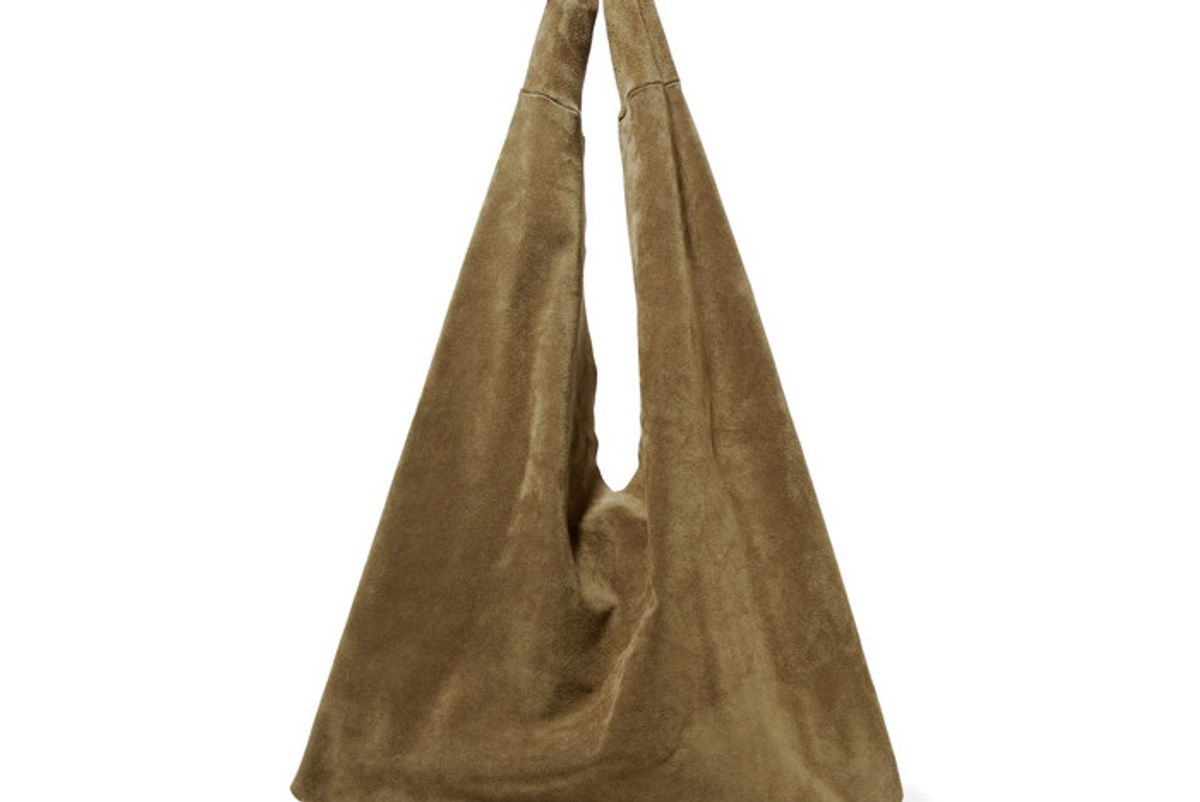 Bindle Suede Shoulder Bag