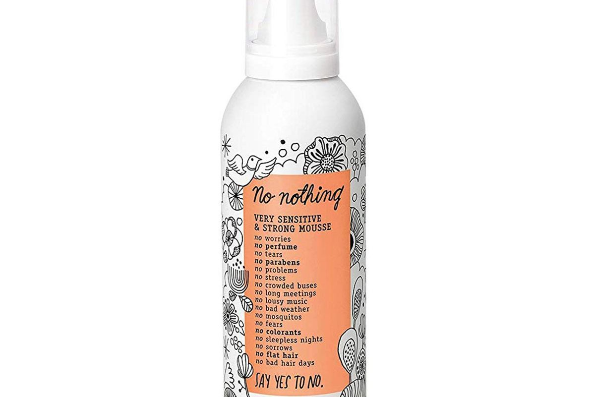 no nothing very sensitive strong mousse fragrance free hypoallergenic alcohol free unscented styling mousse for volume