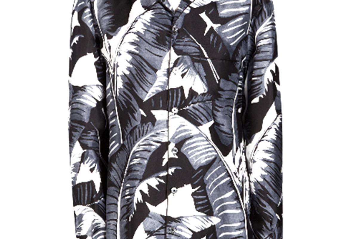 Printed Twill Silk Pajama Top