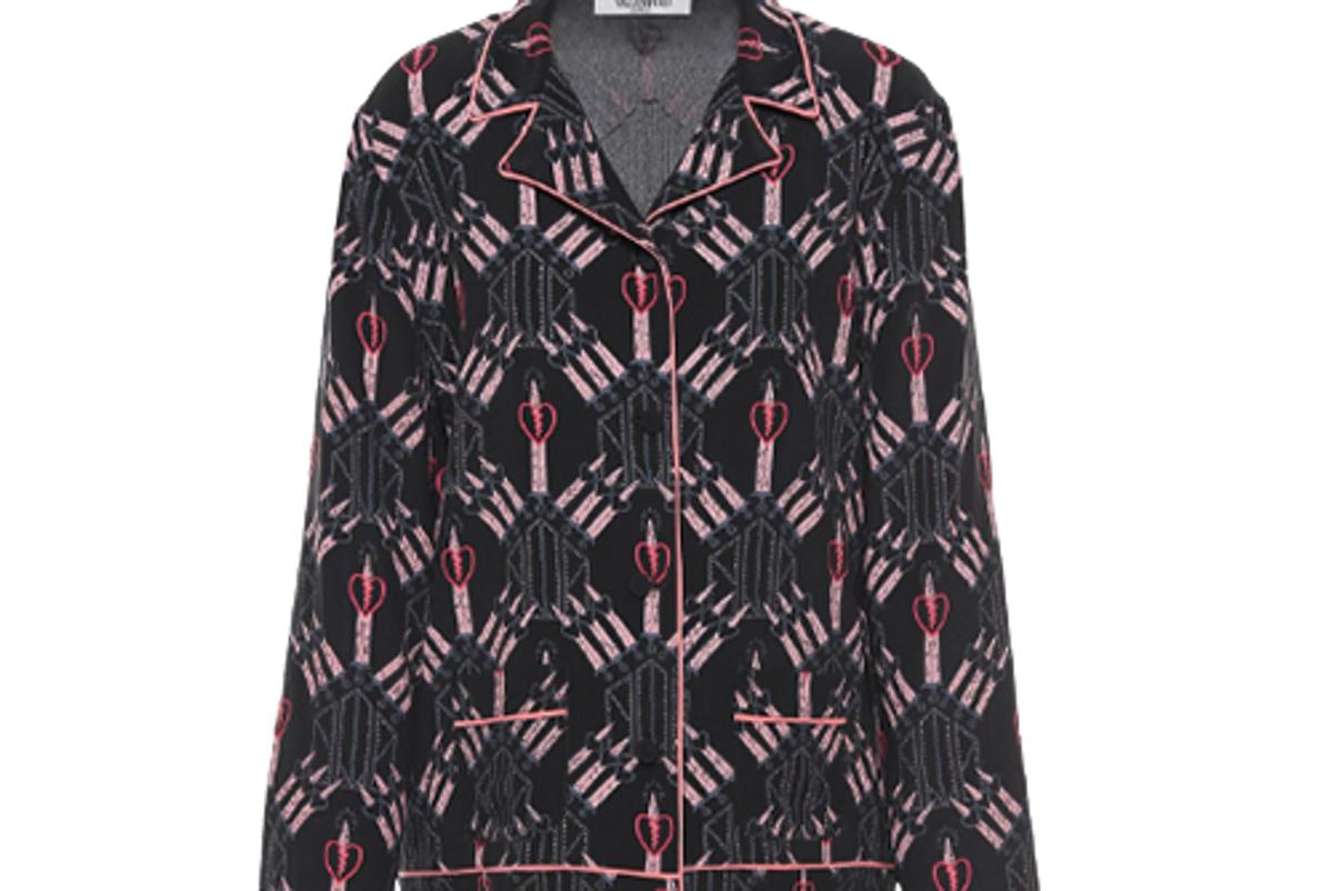 Crepe-De-Chine Pajama Shirt