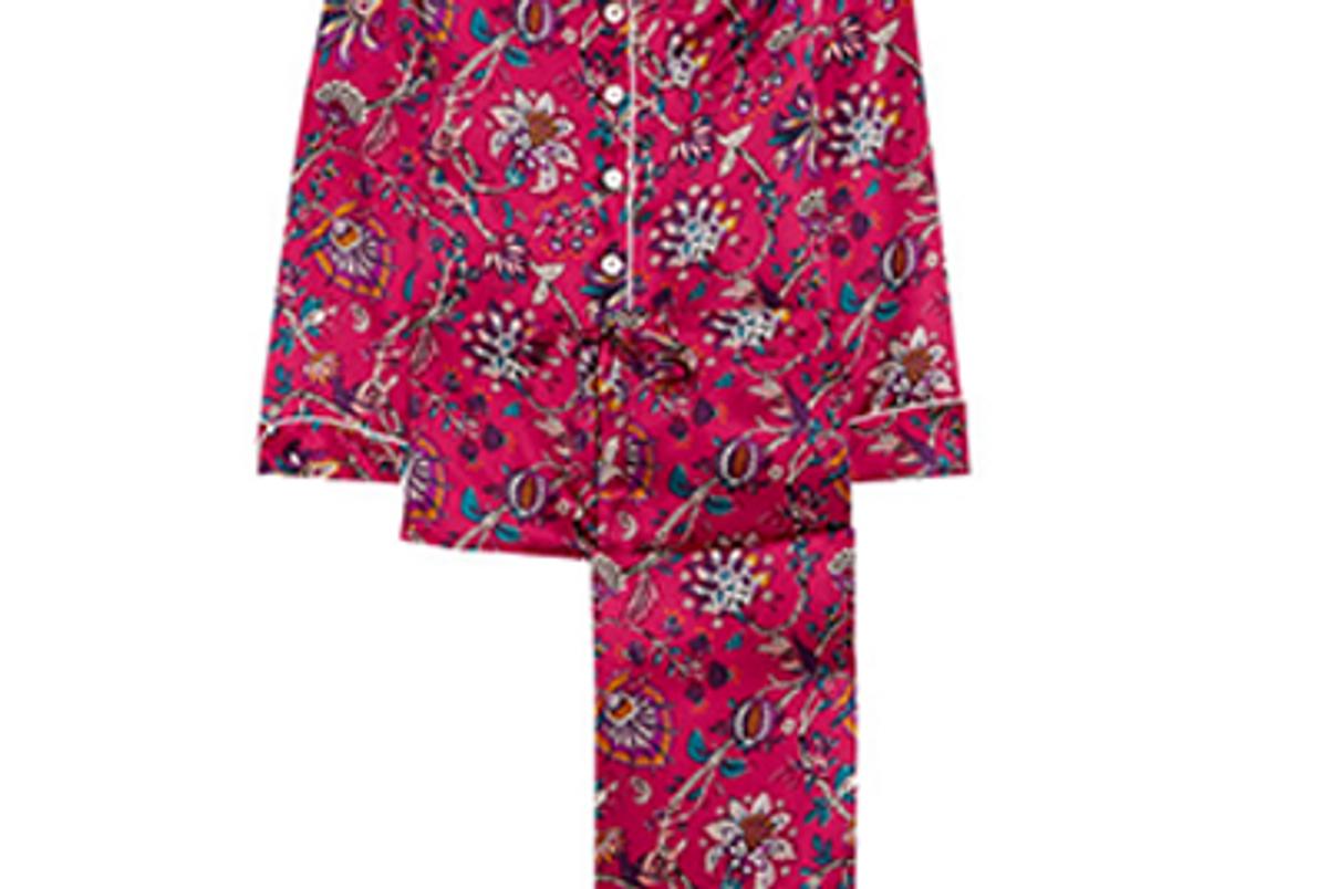 Lila Yasmine Printed Silk-Satin Pajama Set