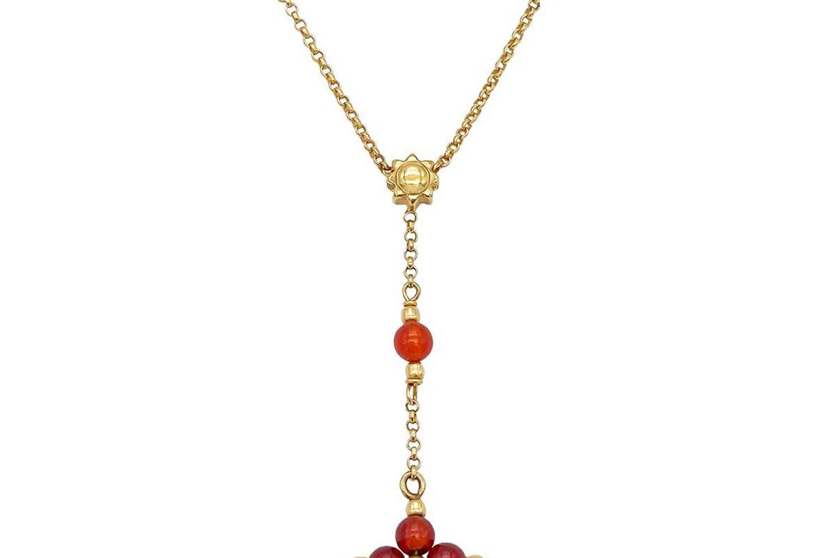 fortunebaby carnelian sun rosary necklace