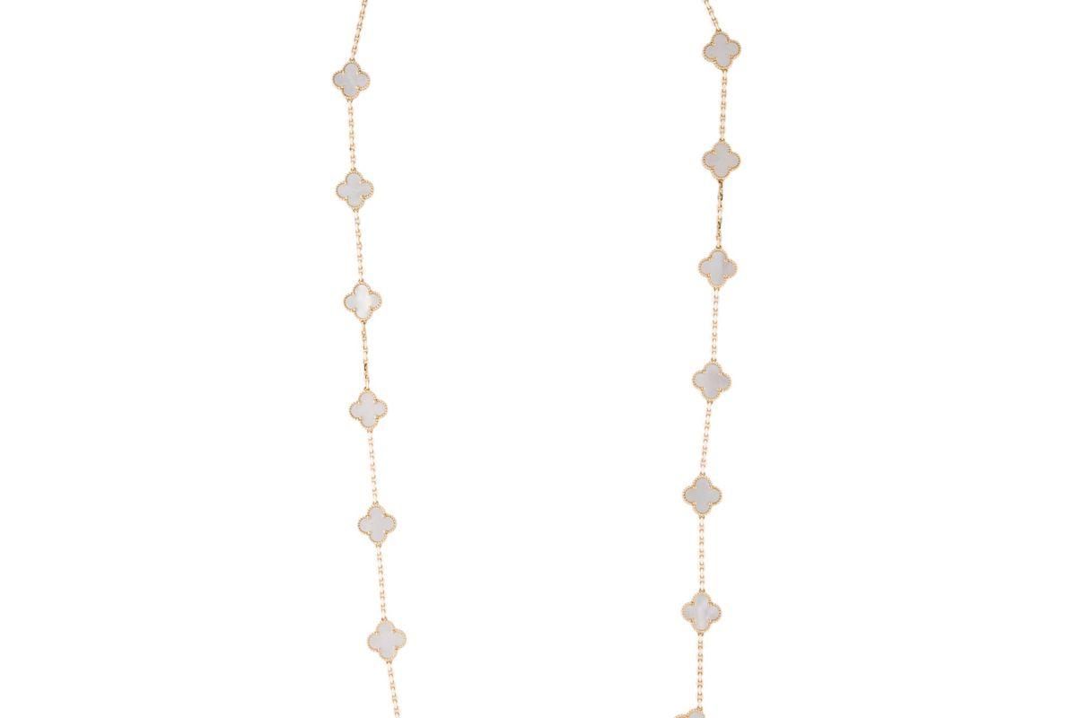 van cleef and arpels mother of pearl 20 motifs vintage alhambra necklace