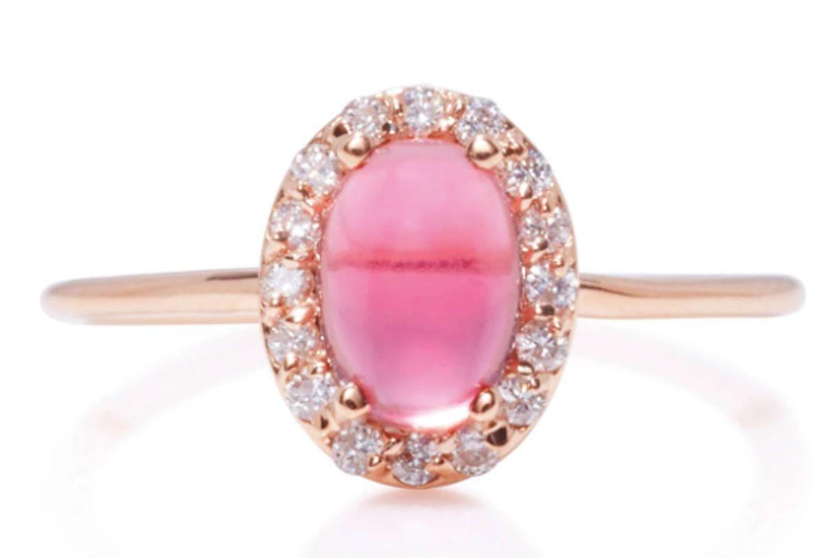 14K Rose Gold, Diamond And Tourmaline Ring