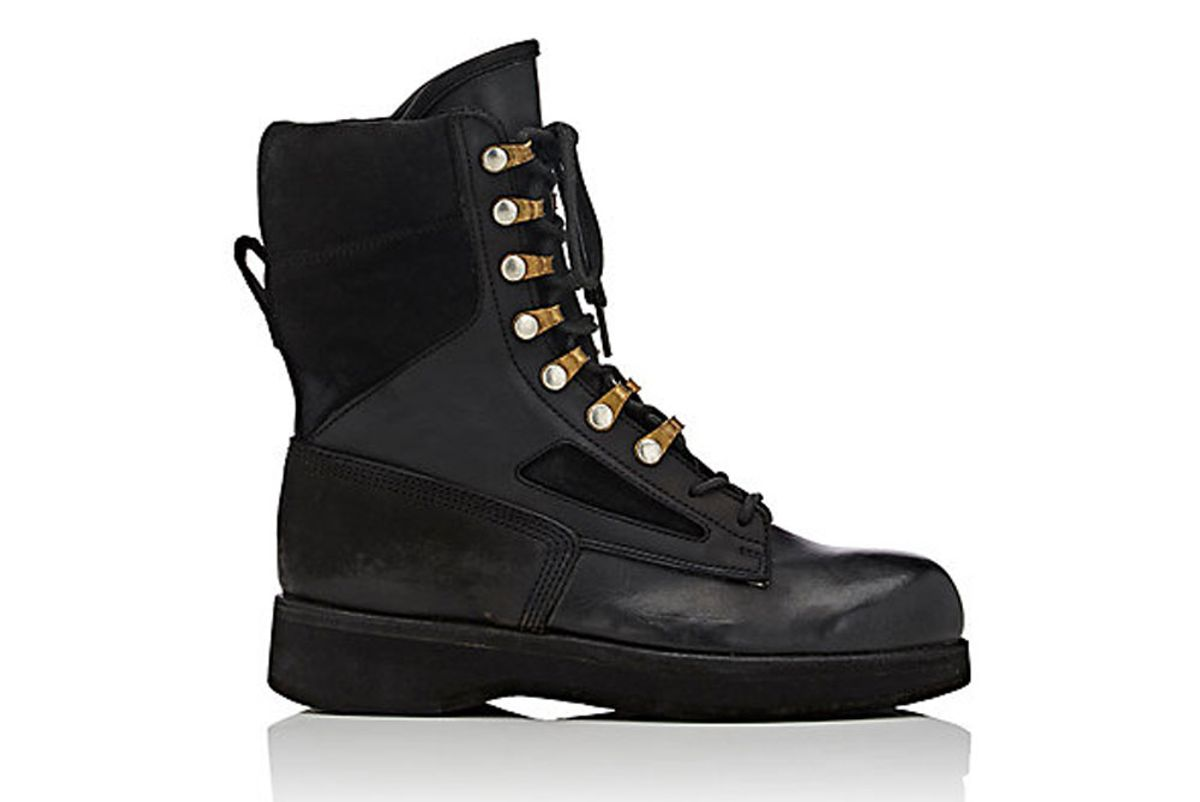 Leather & Suede Lace-Up Boots