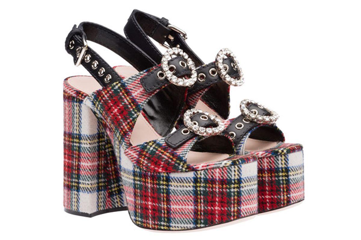 Plaid Sandals