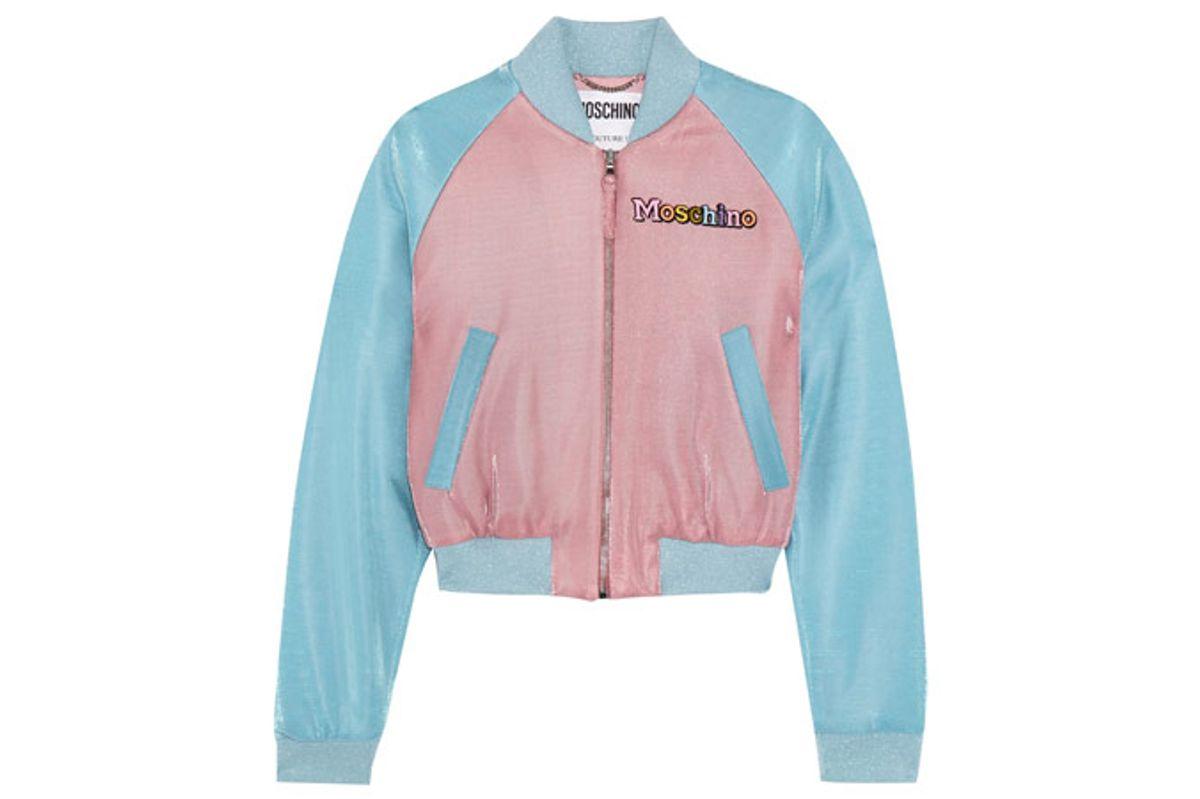 + My Little Pony Appliquéd Lurex Bomber Jacket