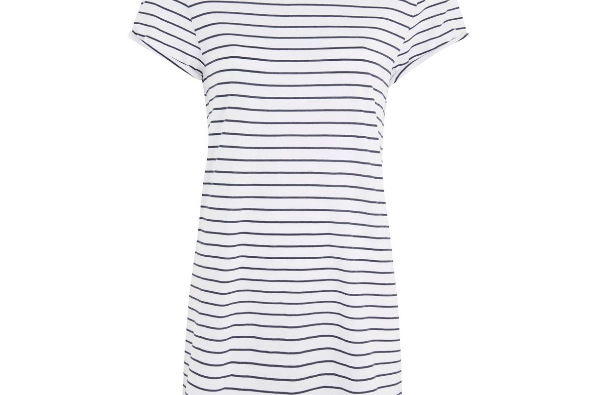 Petite Stripe Roll Back Tee Dress