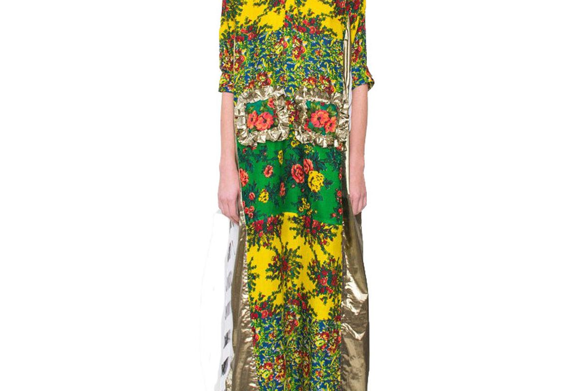 Hand-Painted Kaftan Dress