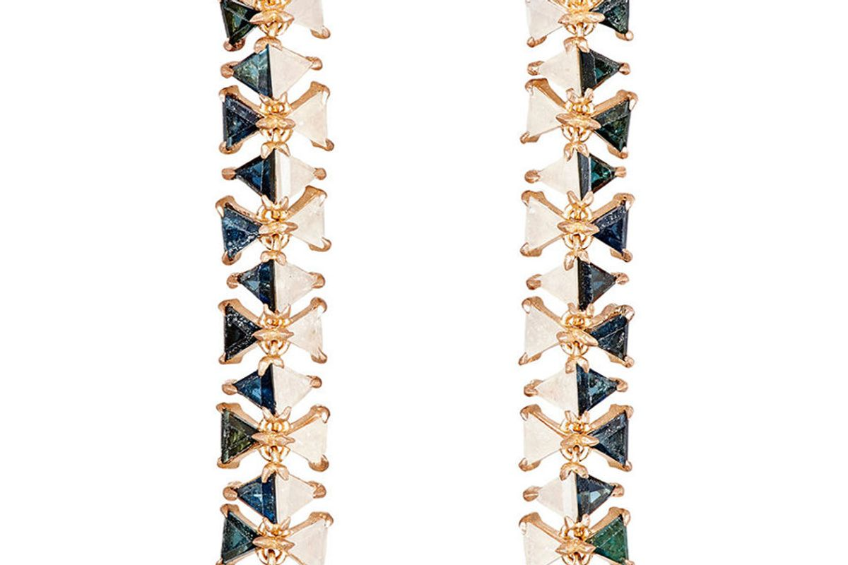 Mosaic Long-Drop Earrings