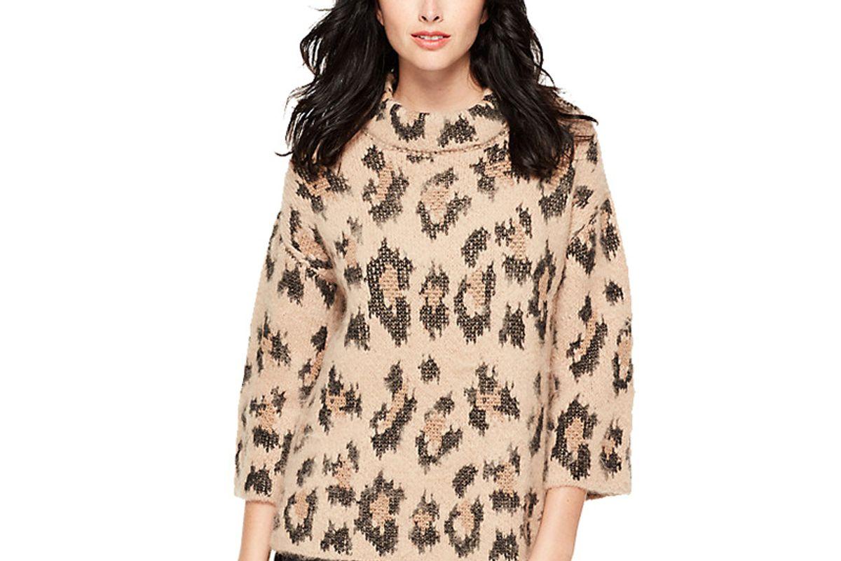 Leopard-Print Chunky Sweater