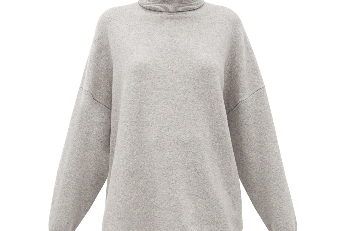 extreme cashmere no 52 roll stretch cashmere sweater