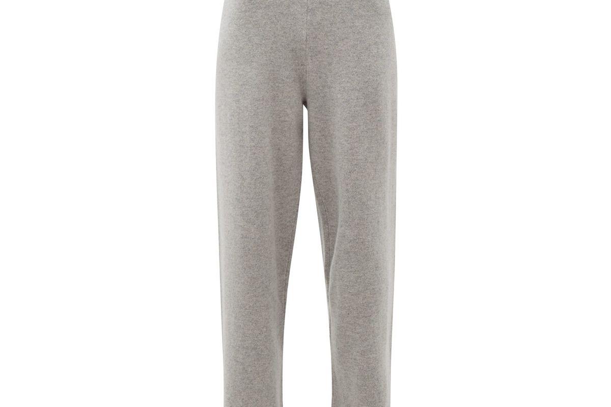 extreme cashmere no 104 stretch cashmere wide leg track pants