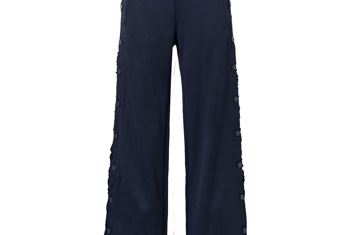 tory sport ruffled stretch knit track pants