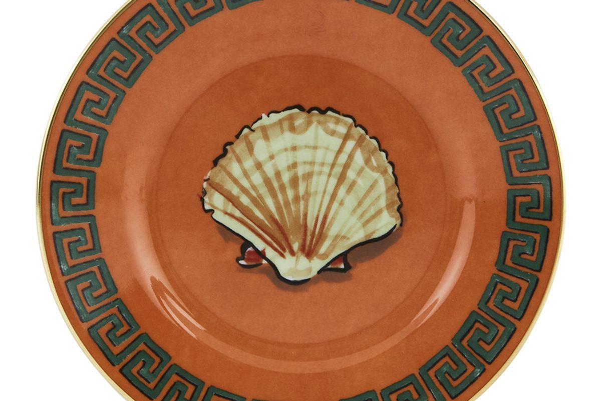 richard ginori and luke edward hall shell bread plate