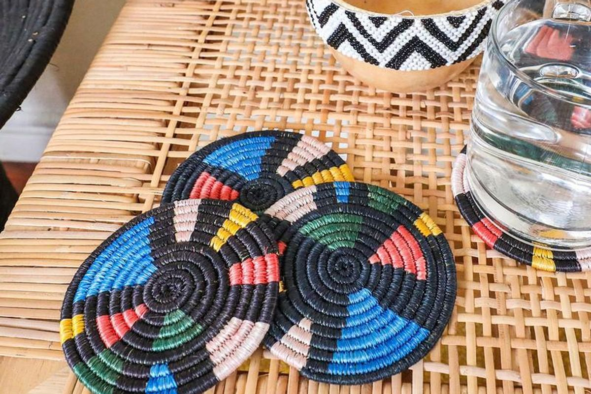 jungalow mosaic coasters