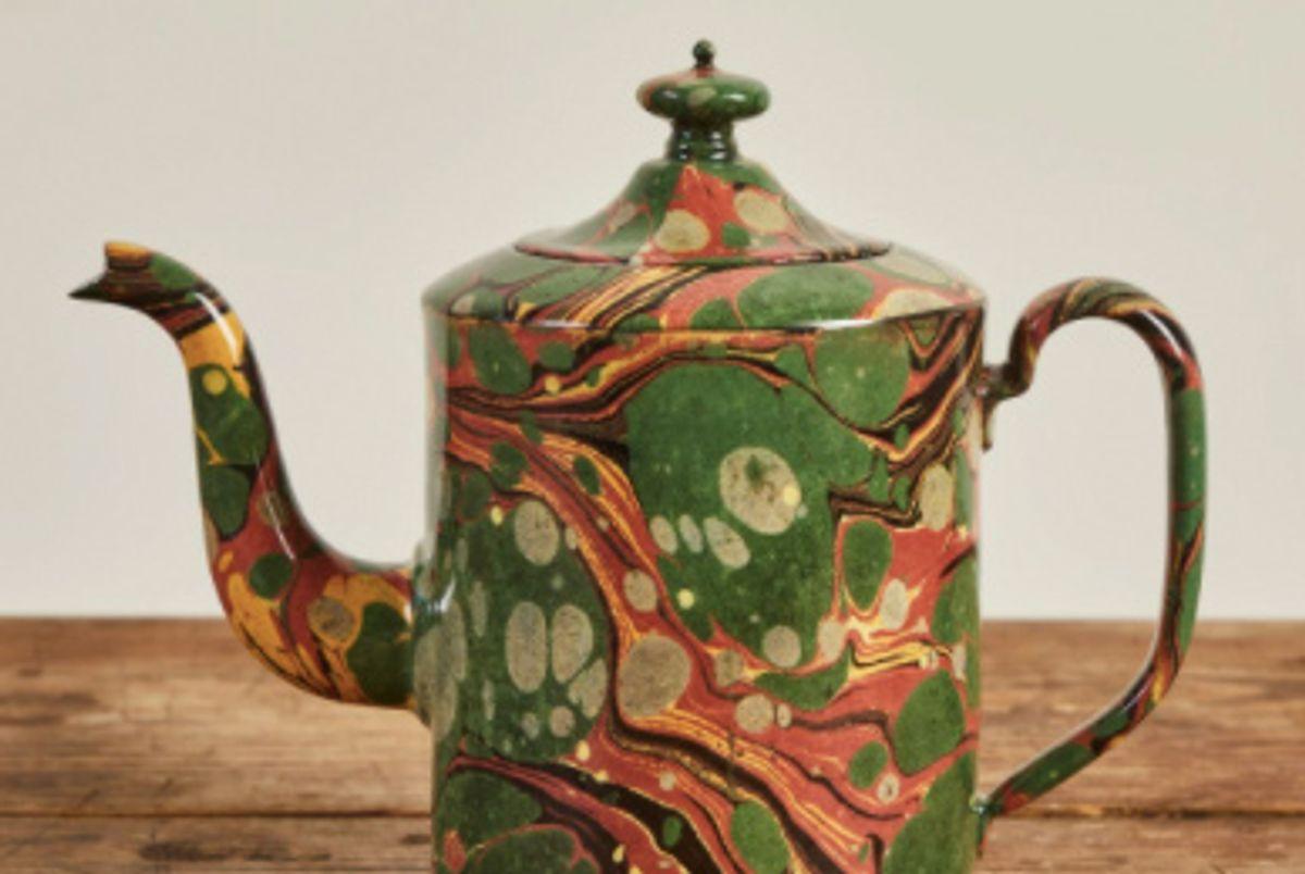 john derian astier de villatte marble teapot