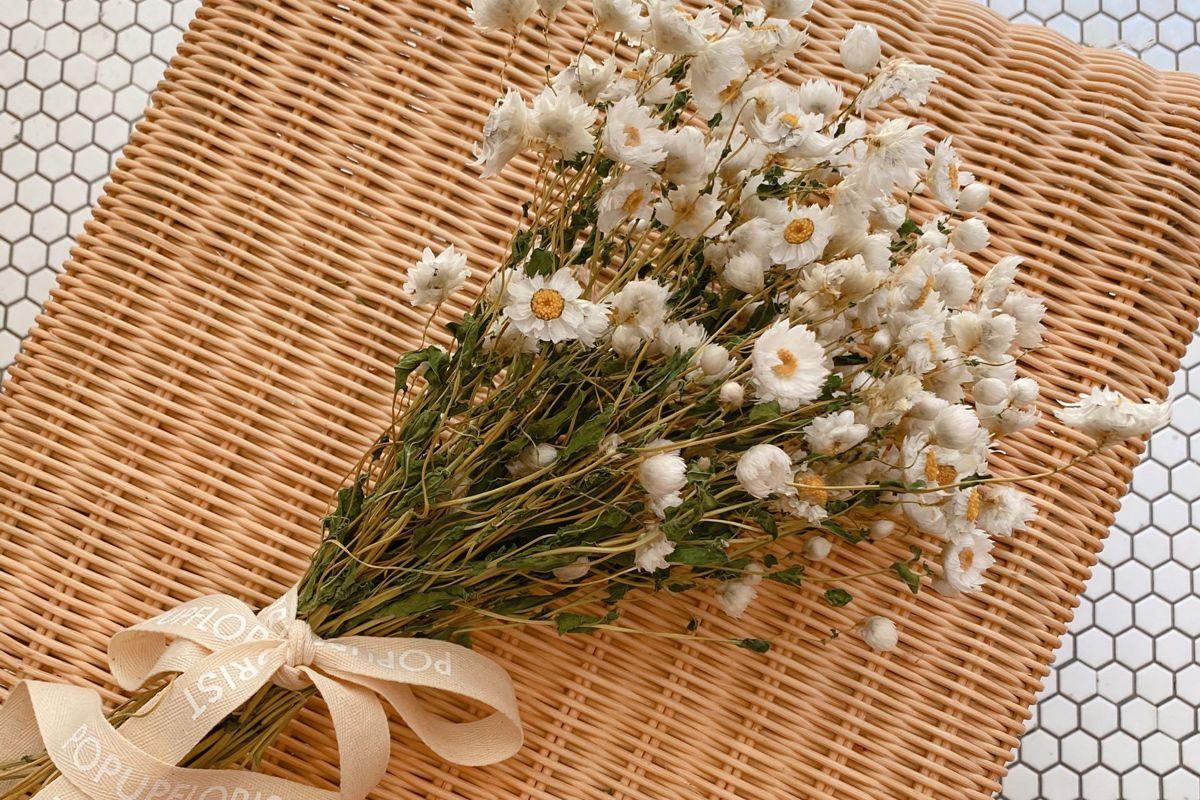 popupflorist dried daisy bunch