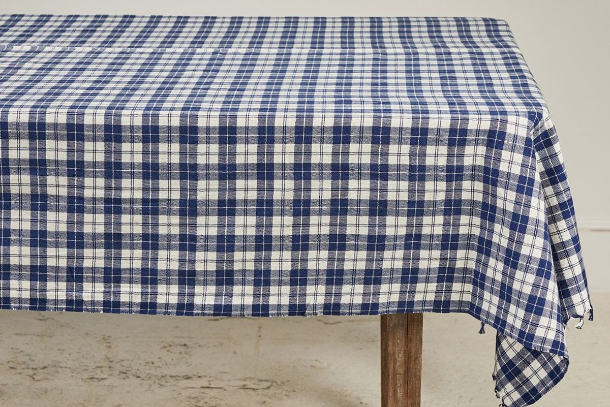 nickey kehoe heather taylor home plaid tablecloth