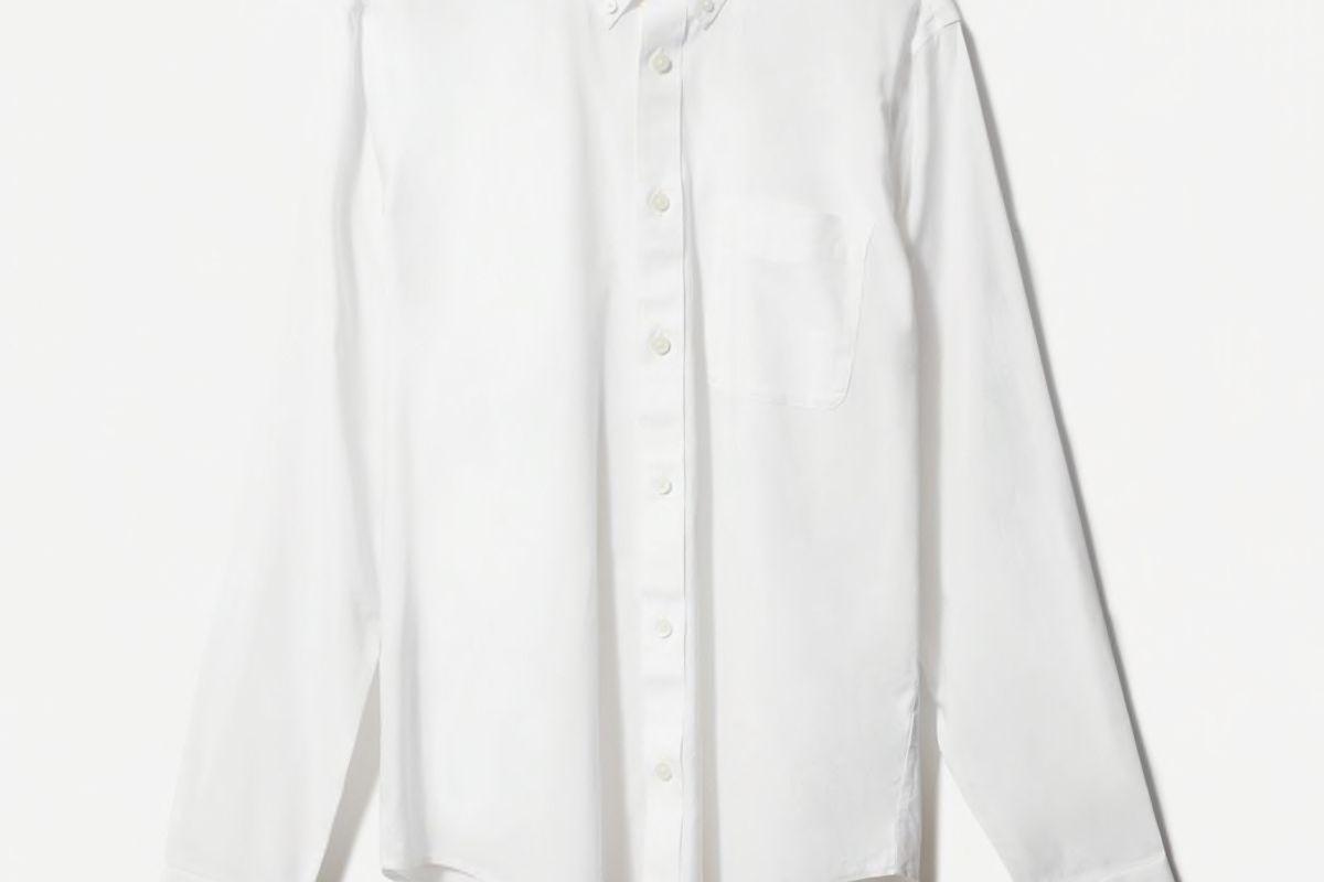 everlane the slim fit performance air oxford long sleeve shirt