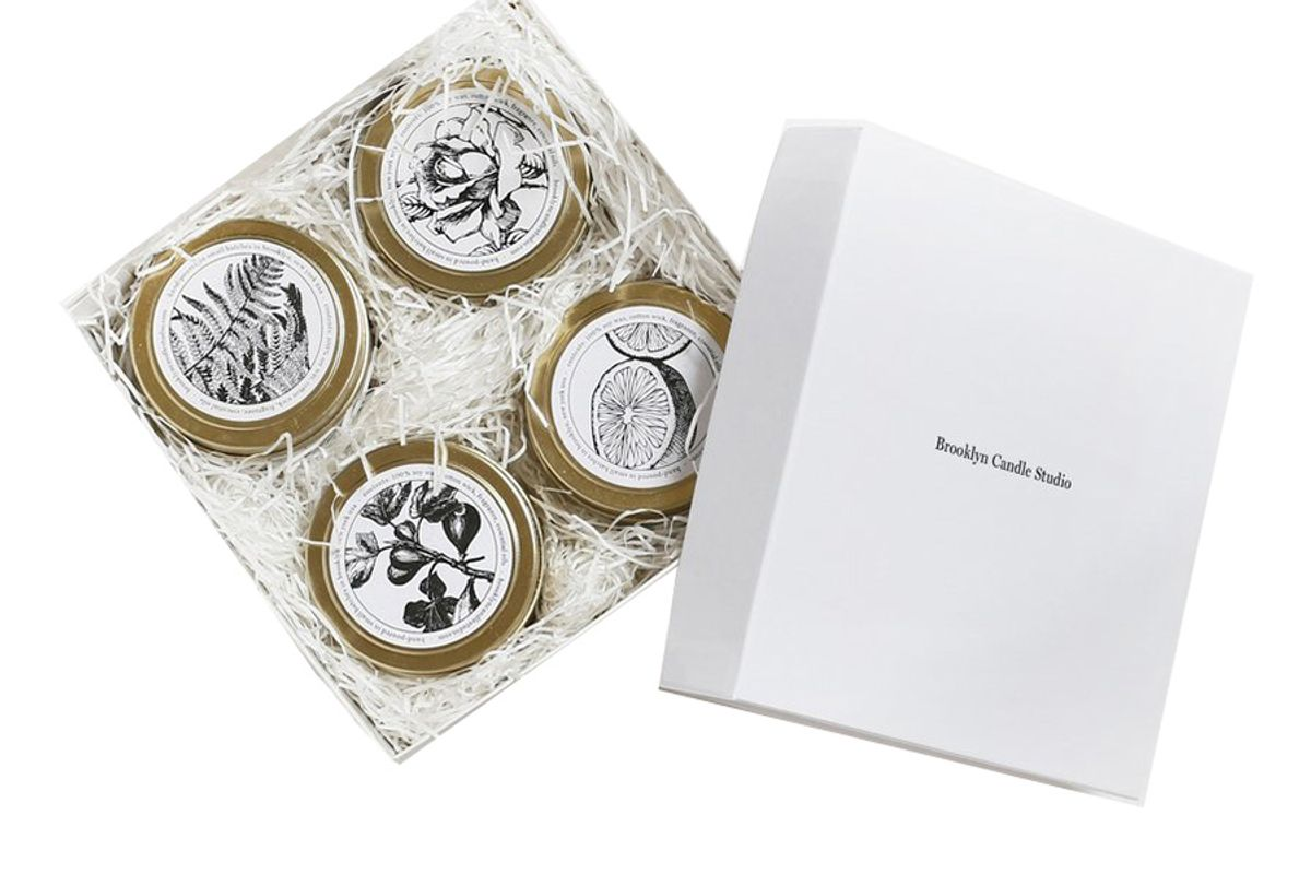 Pick 4 Gold Travel Candles - Boxed Set