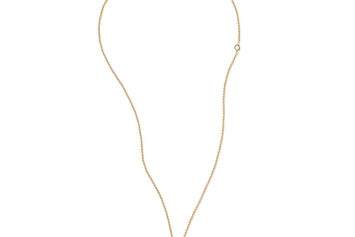 chloe alphabet gold tone necklace